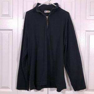 J.Crew Factory Black Half-Zip Jersey Pullover XL
